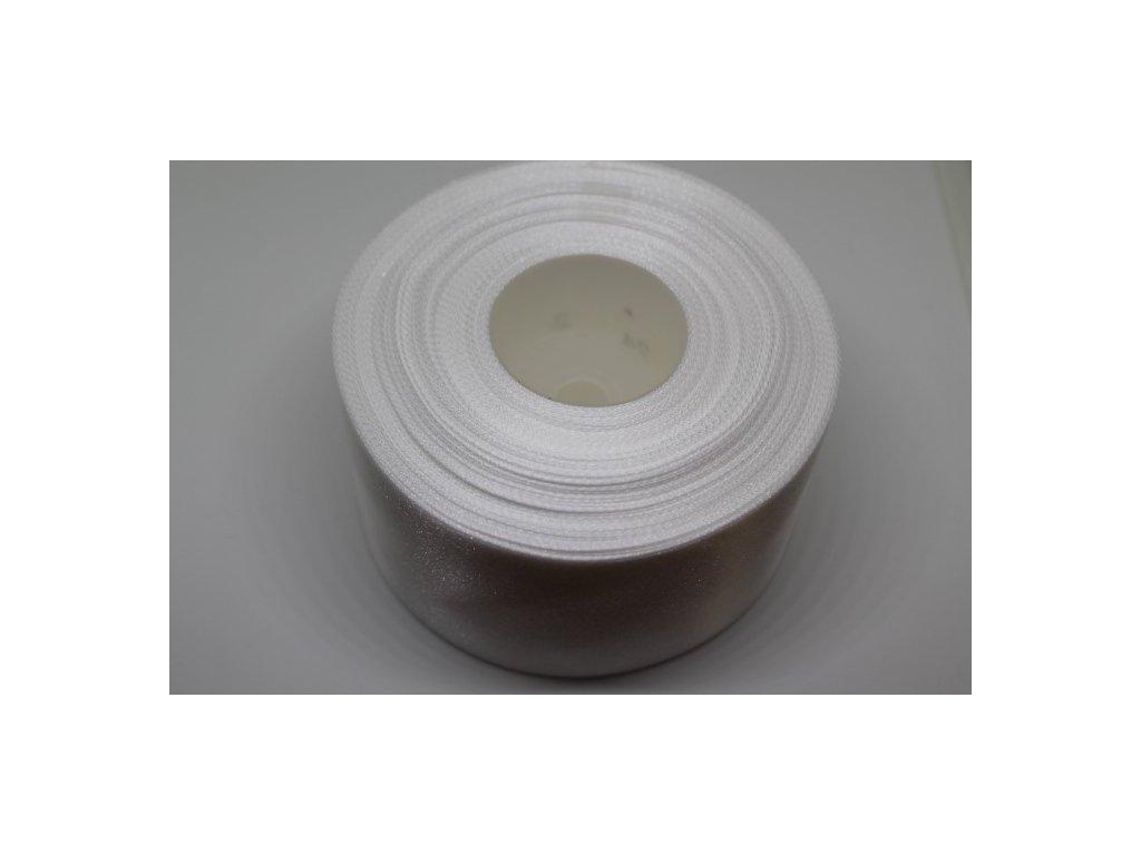 Saténová stuha 50mm A002 perleťovo biela