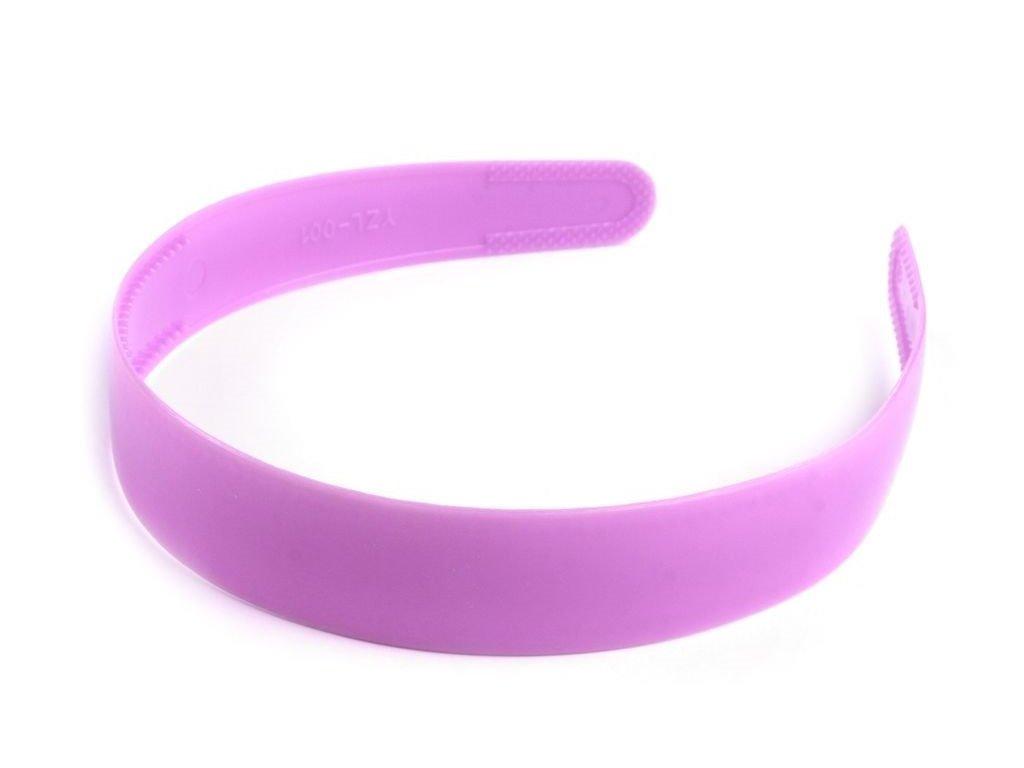 Čelenka plastová 25mm svetlo fialová