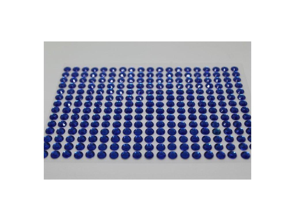 Samolepiace kamienky 6 mm kráľovské modré