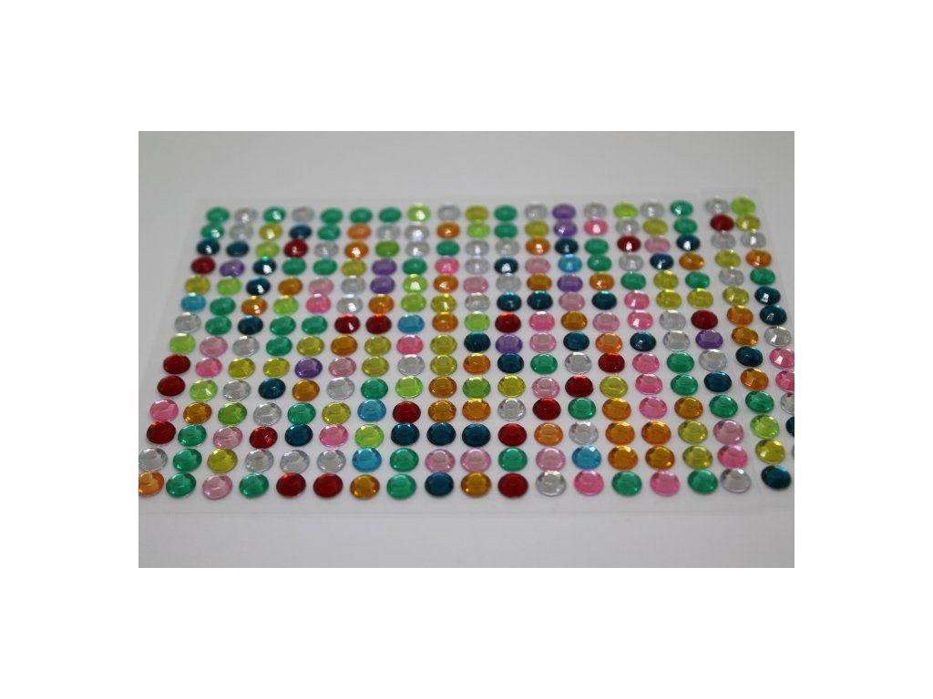 Samolepiace kamienky 6 mm mix farieb