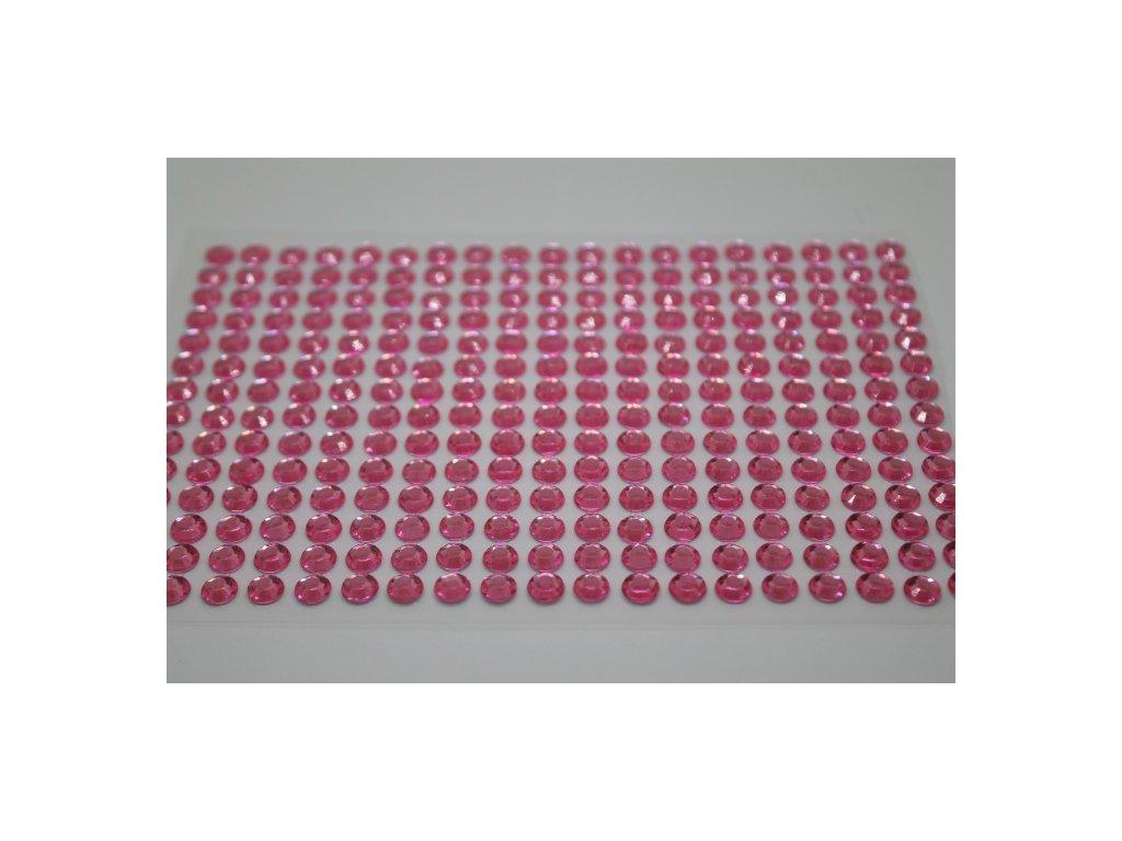 Samolepiace kamienky 6 mm ružové