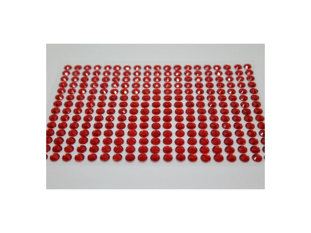 Samolepiace kamienky 6 mm červené