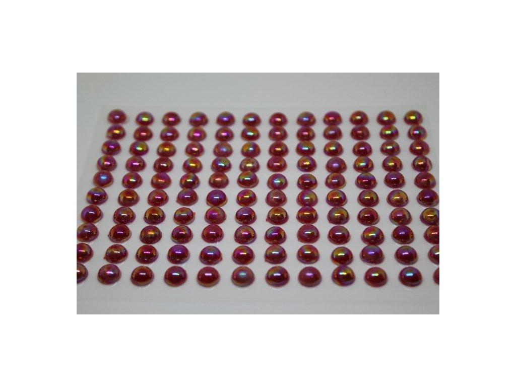 Samolepiace polperličky 8 mm cyklaménové
