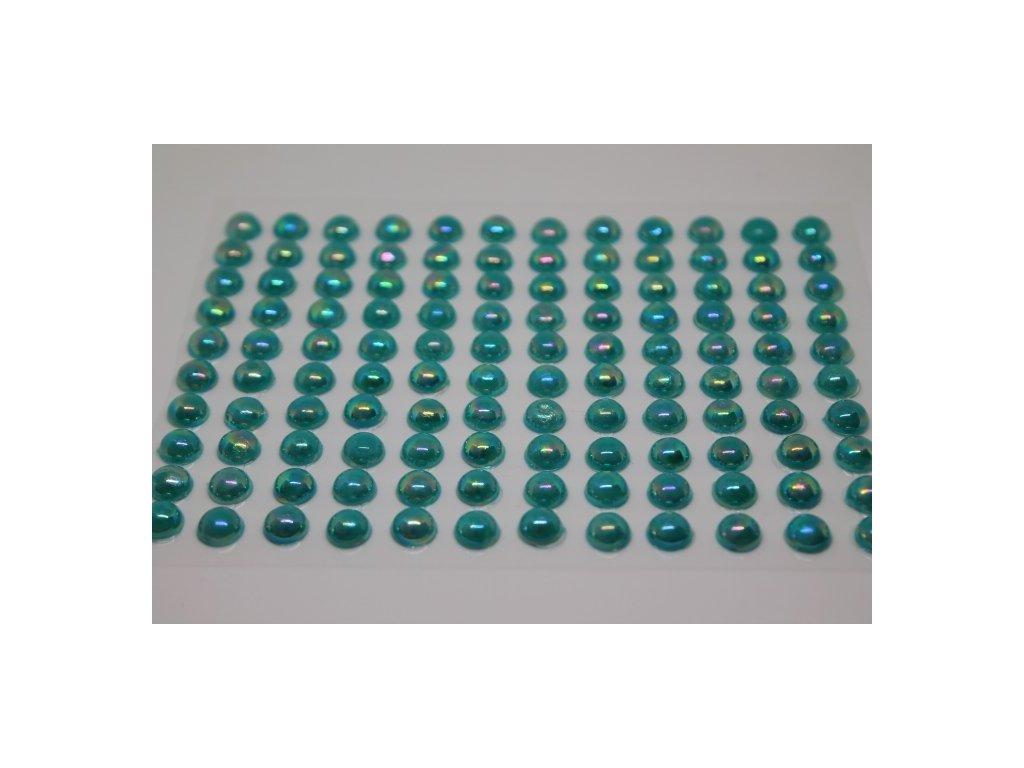 Samolepiace polperličky 8 mm tyrkysové