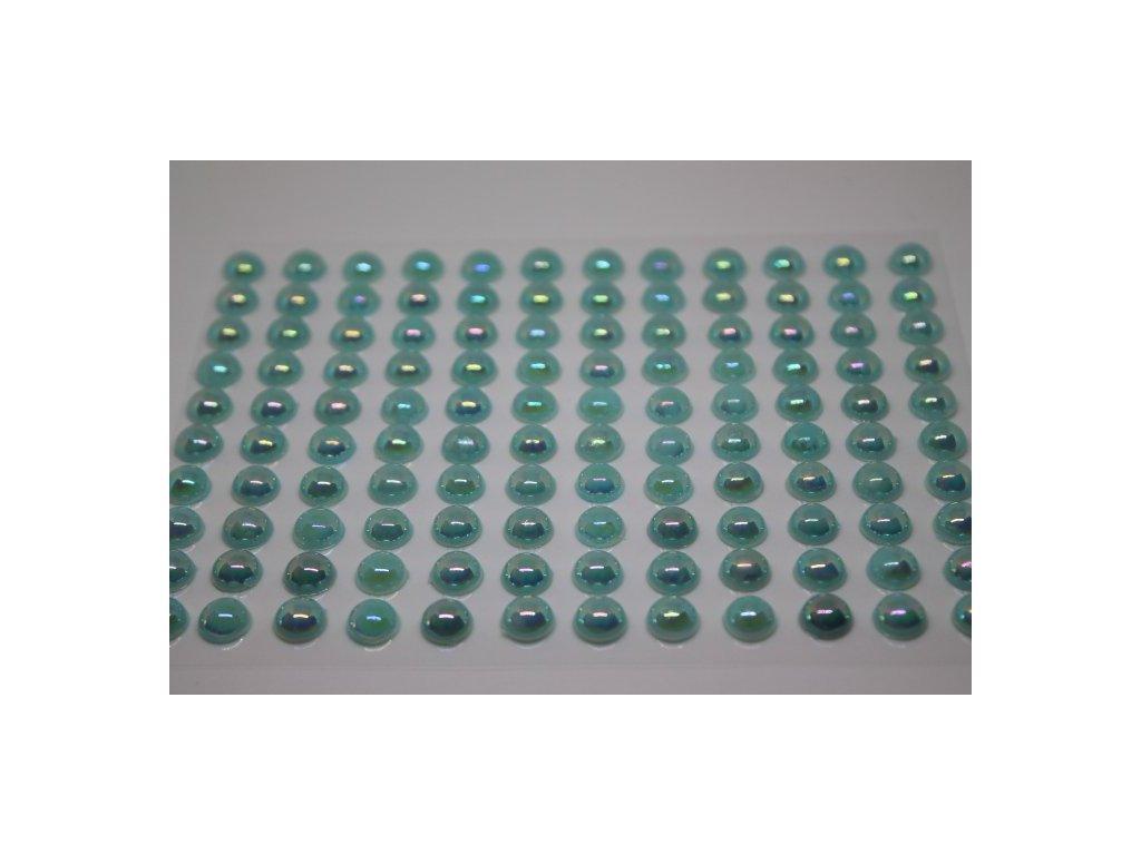 Samolepiace polperličky 8 mm svetlo tyrkysové