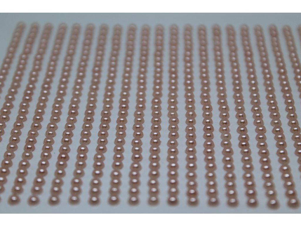 Samolepiace polperličky 3 mm lososové