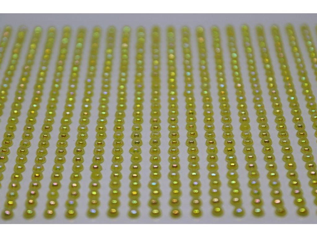 Samolepiace polperličky 3 mm žlté