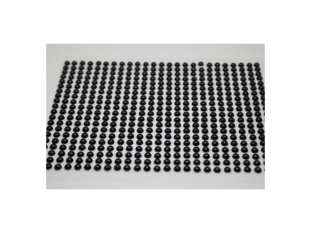Samolepiace polperličky 4 mm čierne