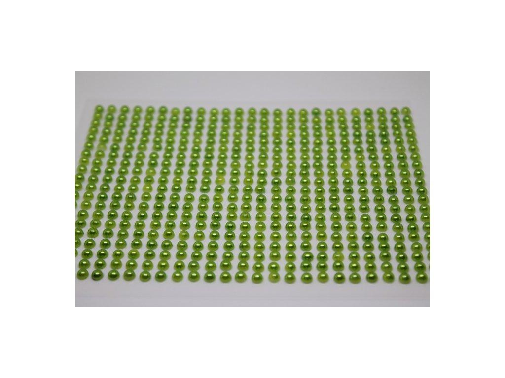 Samolepiace polperličky 4 mm jablkovo zelené
