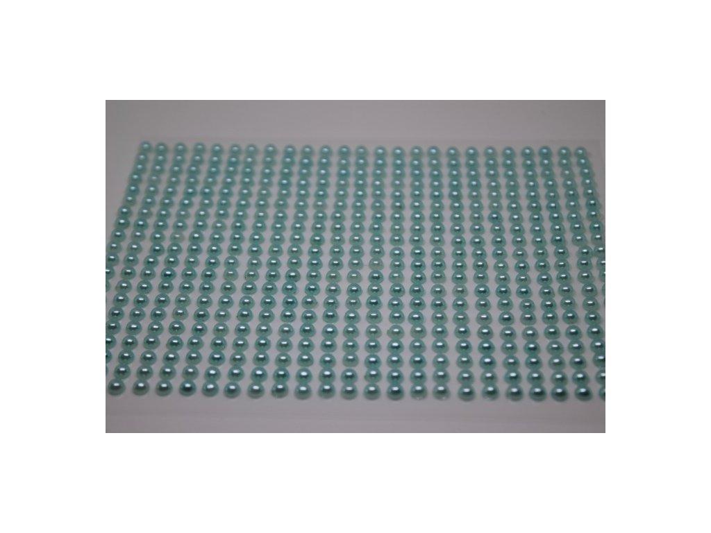 Samolepiace polperličky 4 mm svetlé tyrkysové