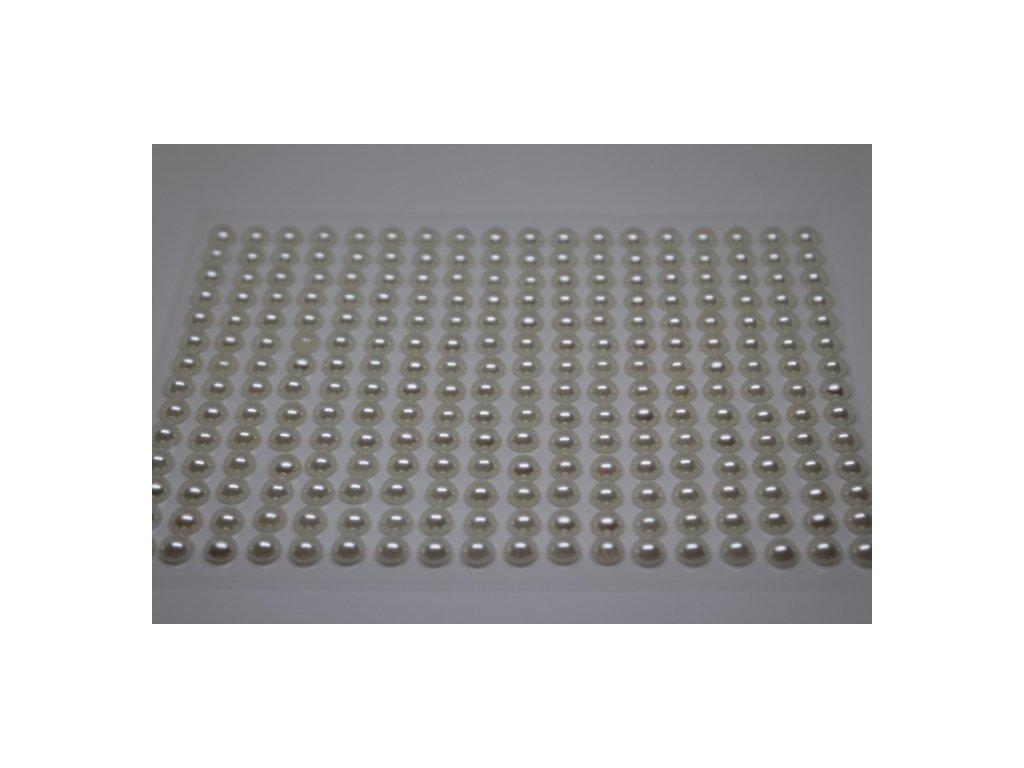 Samolepiace polperličky 6 mm krémové