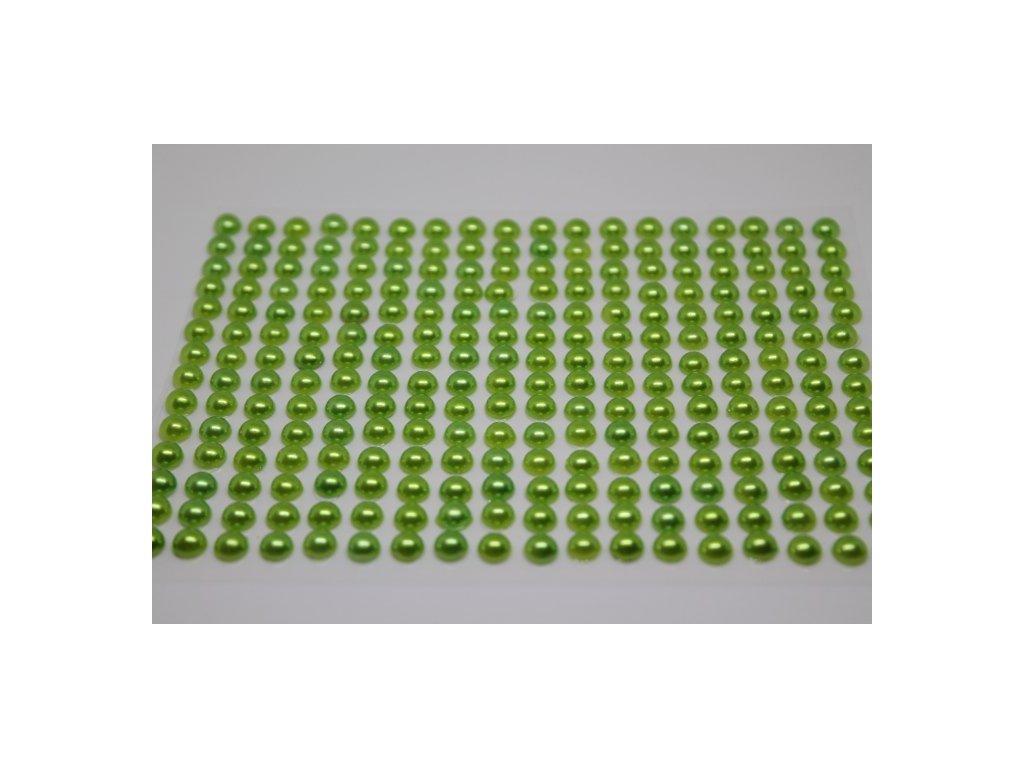Samolepiace polperličky 6 mm jablkovo zelené