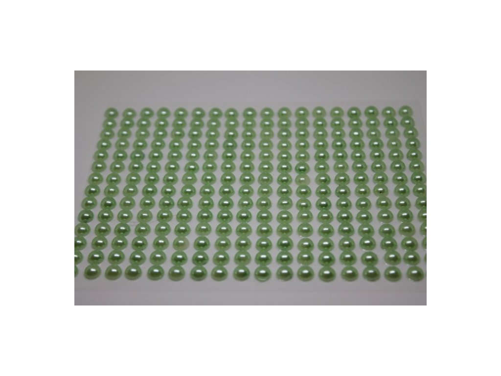 Samolepiace polperličky 6 mm sivo zelené