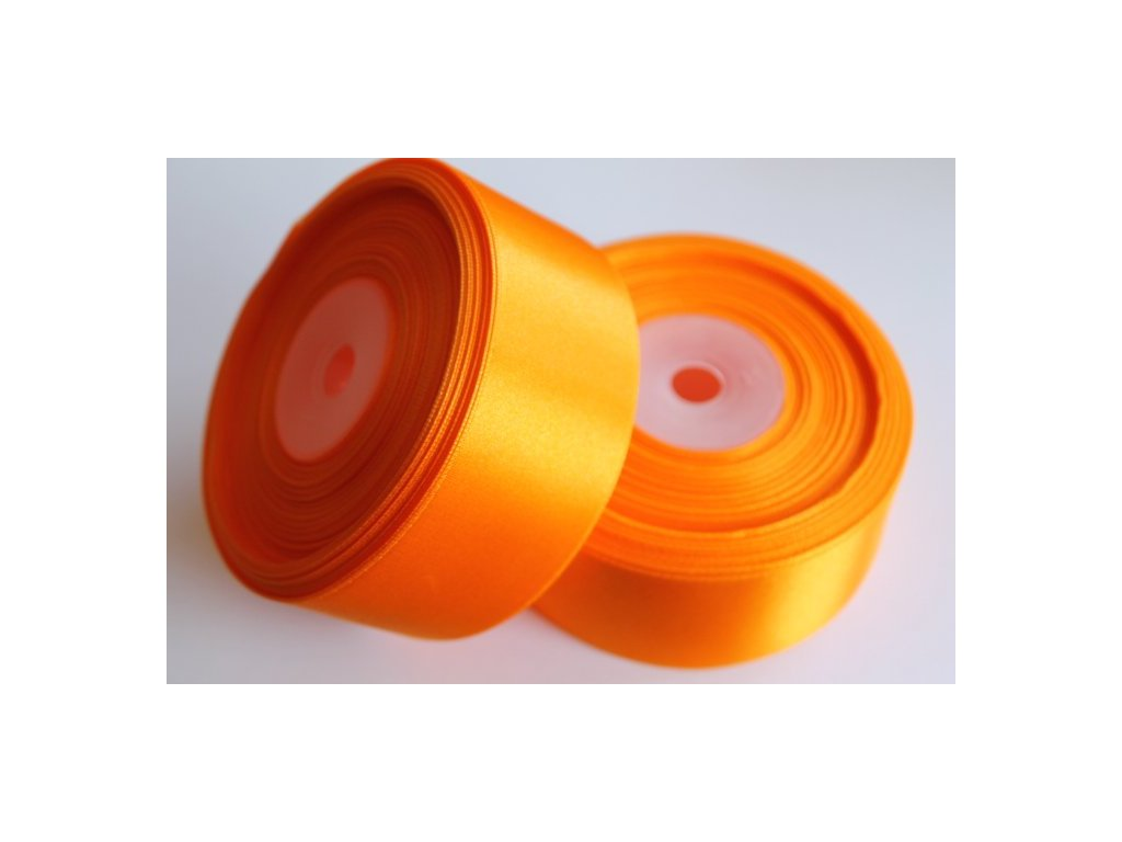 Saténová stuha 38mm A011 svetlá oranžová