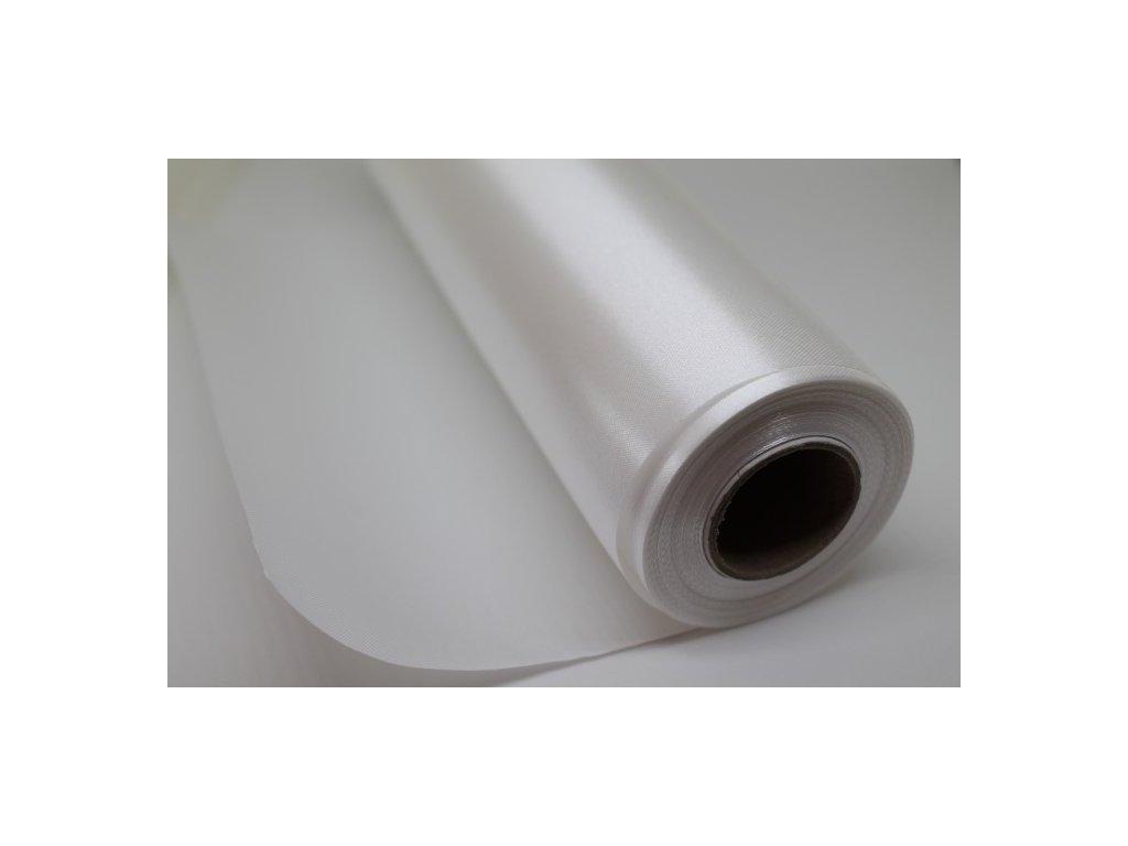 Satén v rolke 16cm/9m biely