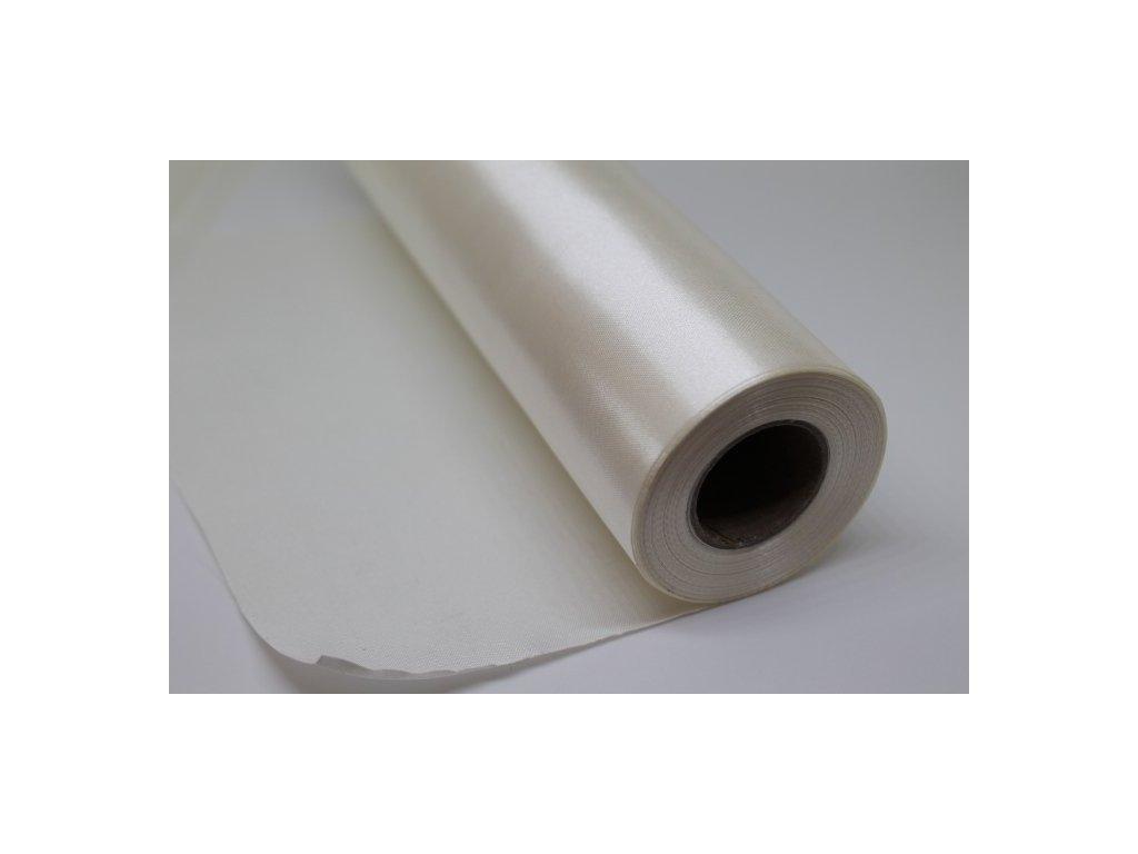 Satén v rolke 16cm/9m slonovinový