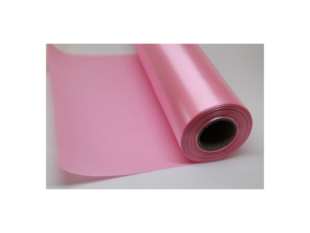 Satén v rolke 16cm/9m ružový