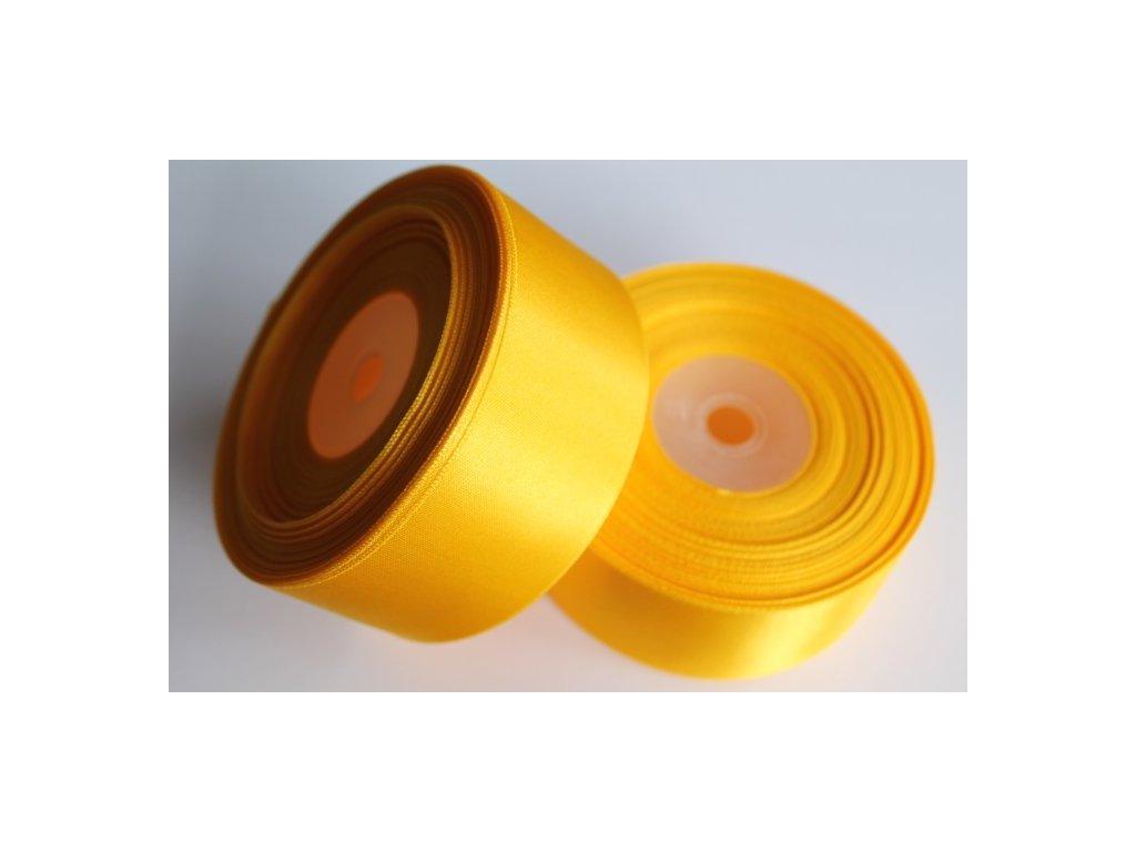 Saténová stuha 38mm A006 sýto žltá