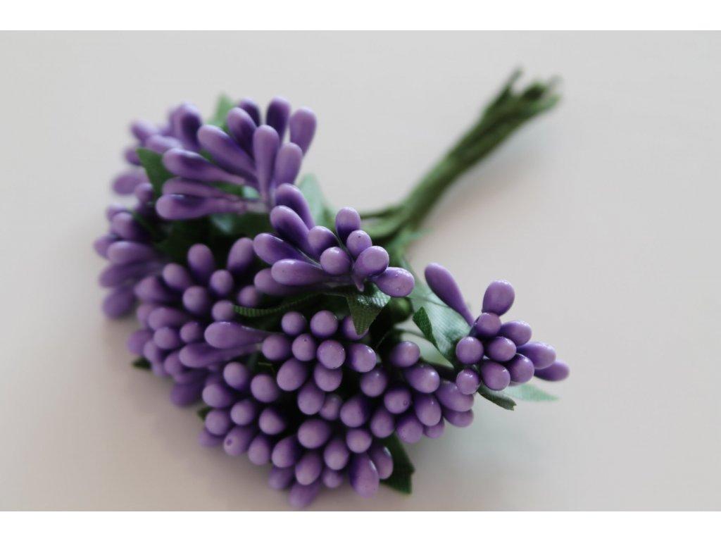 Tyčinky do kvetín so zelenými lístkami 075