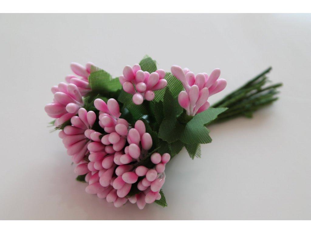 Tyčinky do kvetín so zelenými lístkami 040