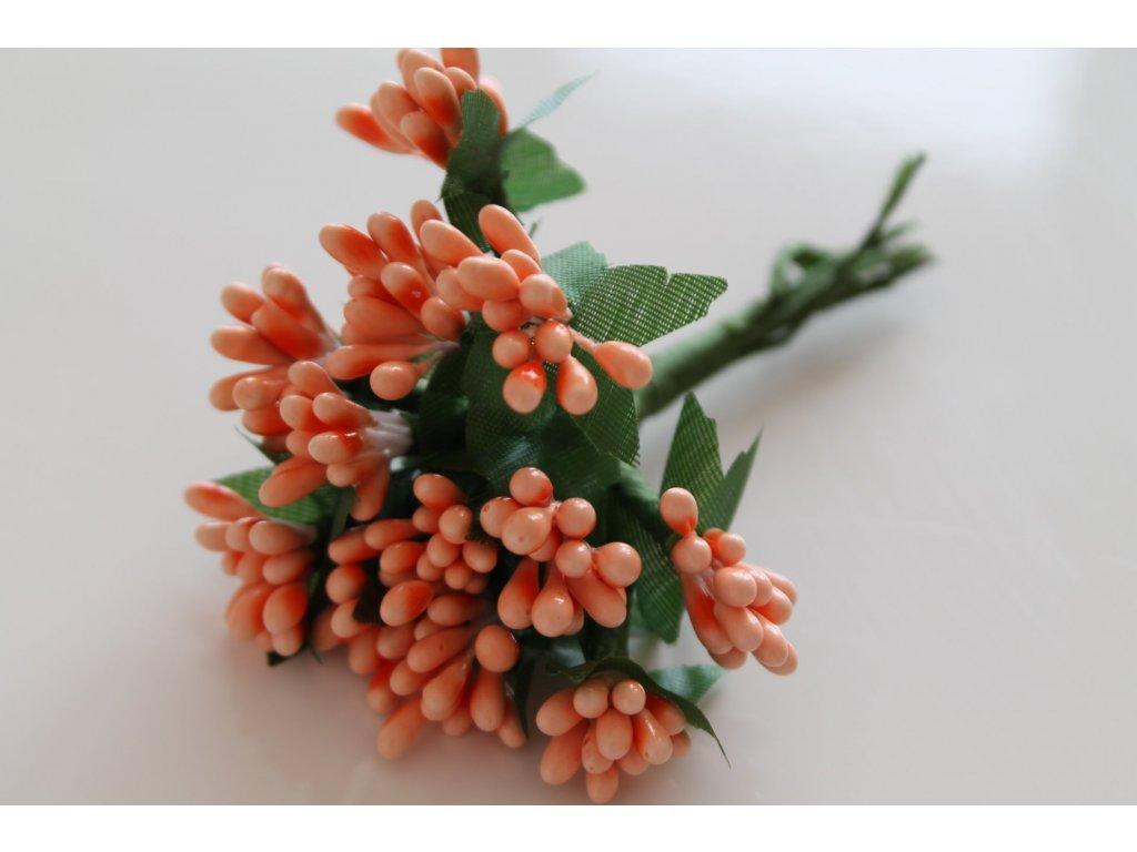 Tyčinky do kvetín so zelenými lístkami 033