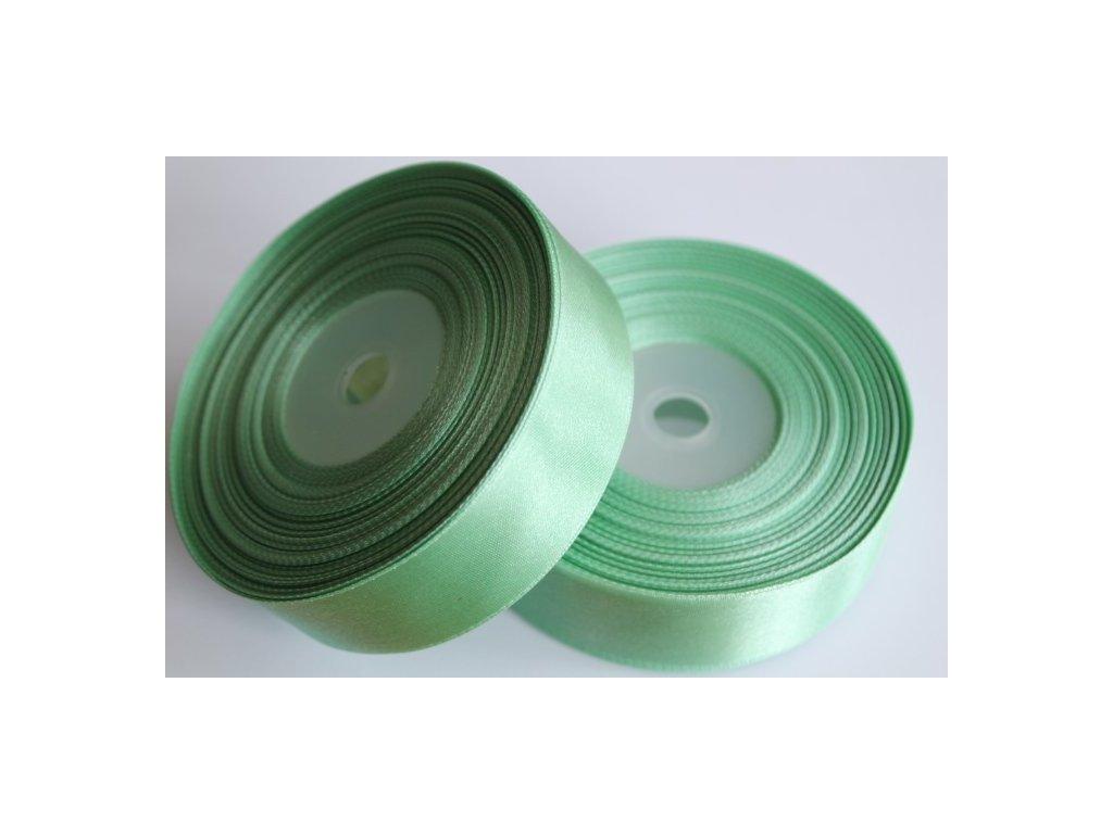 Saténová stuha 25mm A080 zeleno sivá