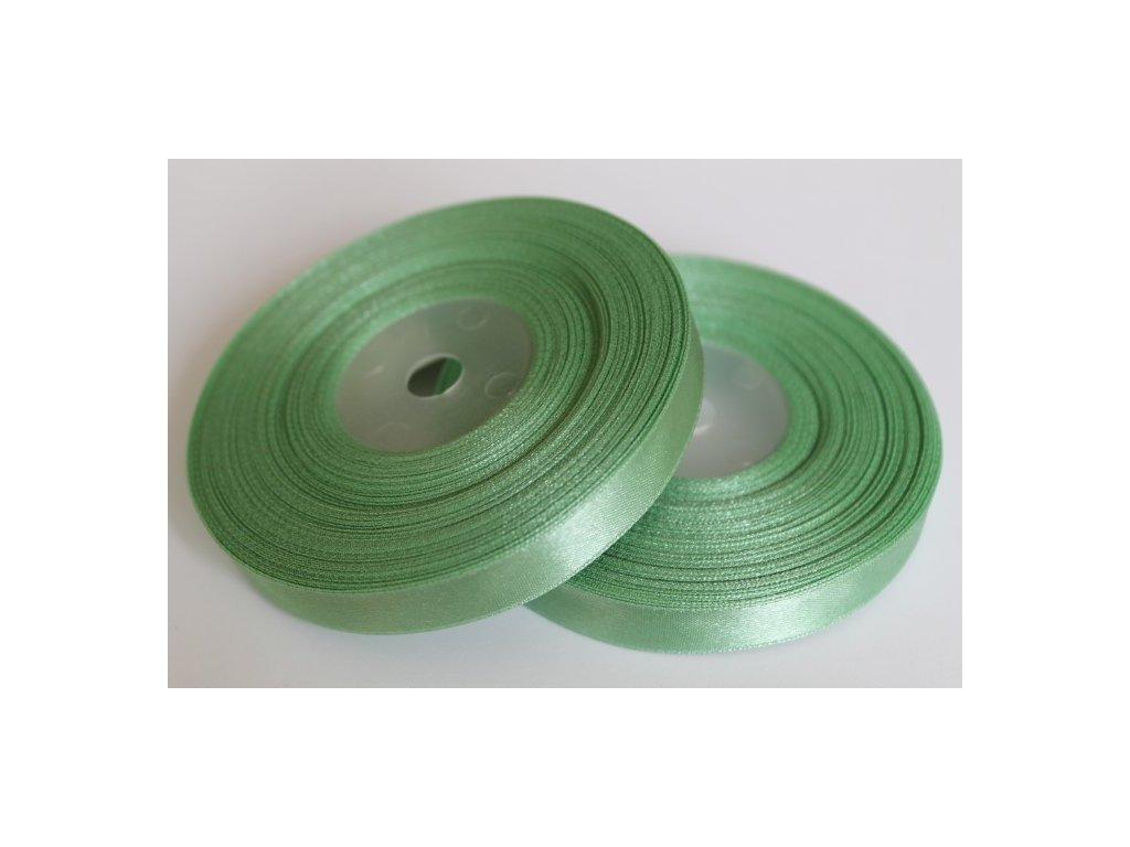 Saténová stuha 12mm A080 zeleno sivá