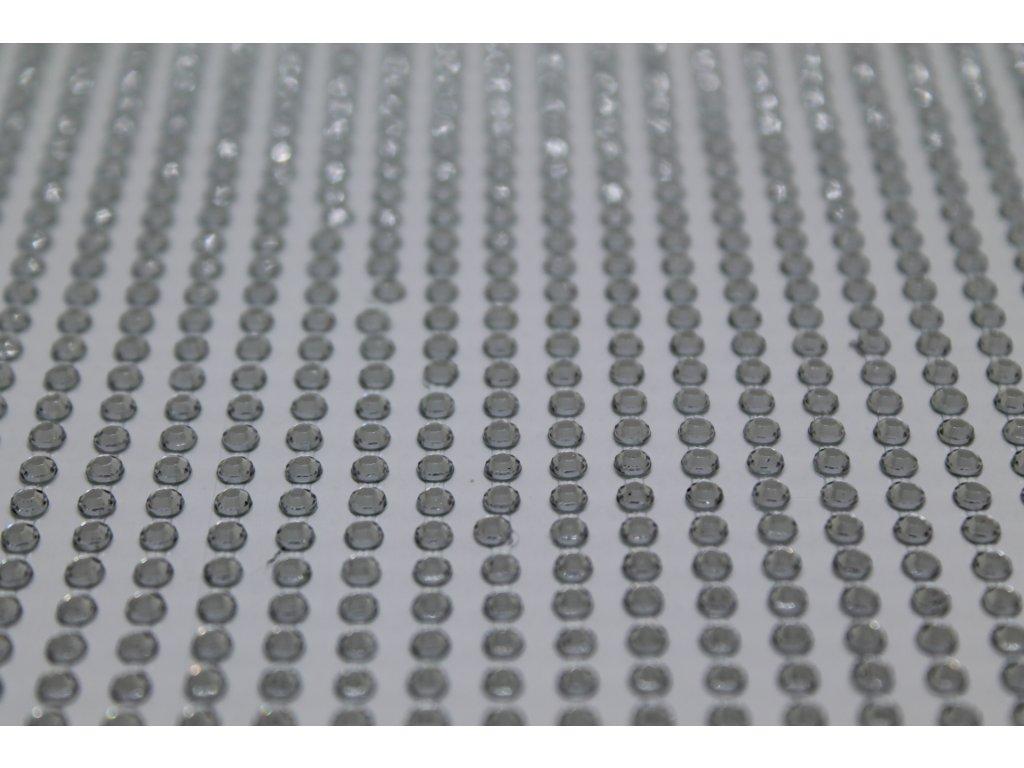 Samolepiace kamienky 3 mm strieborné