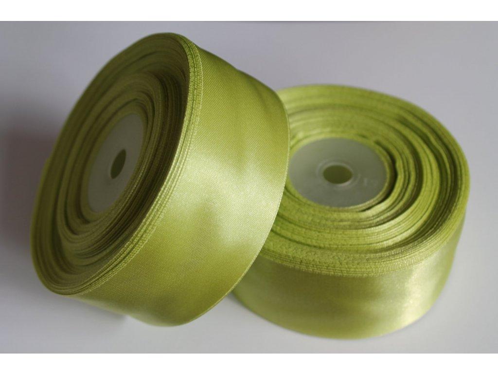 Saténová stuha 38mm A024 hrášková zelená