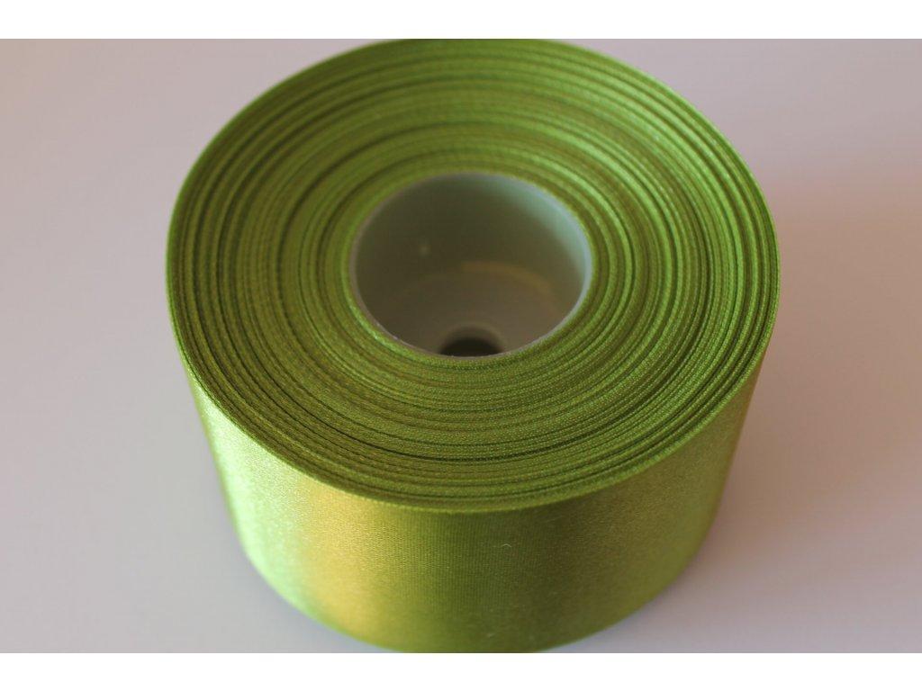 Saténová stuha 50mm A027 tmavá zelená