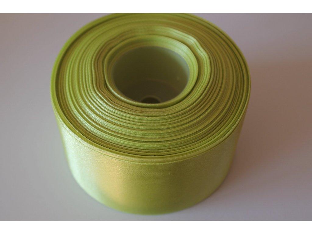 Saténová stuha 50mm A024 hrášková zelená