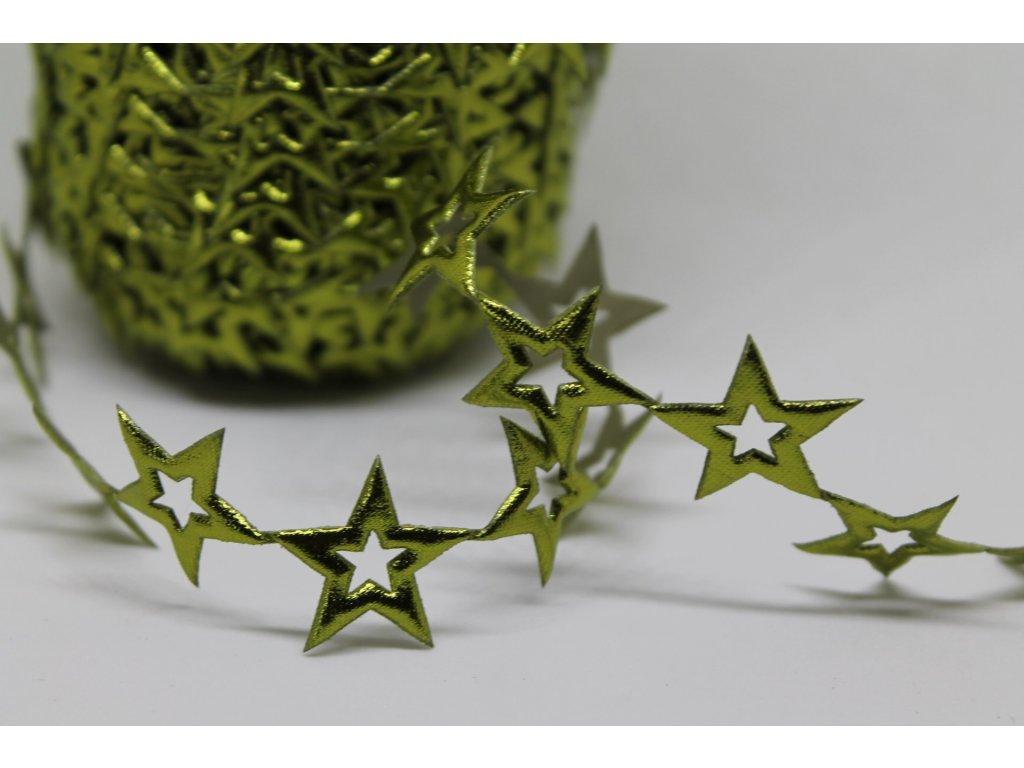 Aplikácia hviezda prázdna 2cm zelená