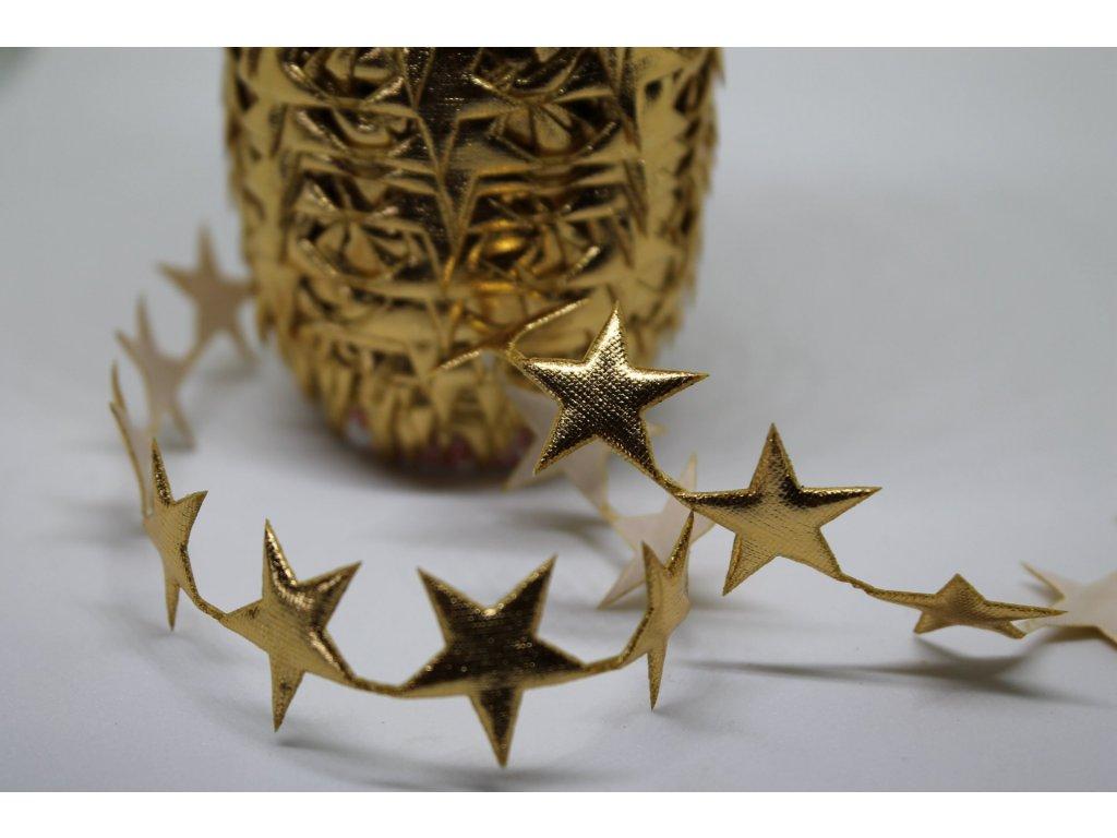 Aplikácia hviezda plná 2cm zlatá