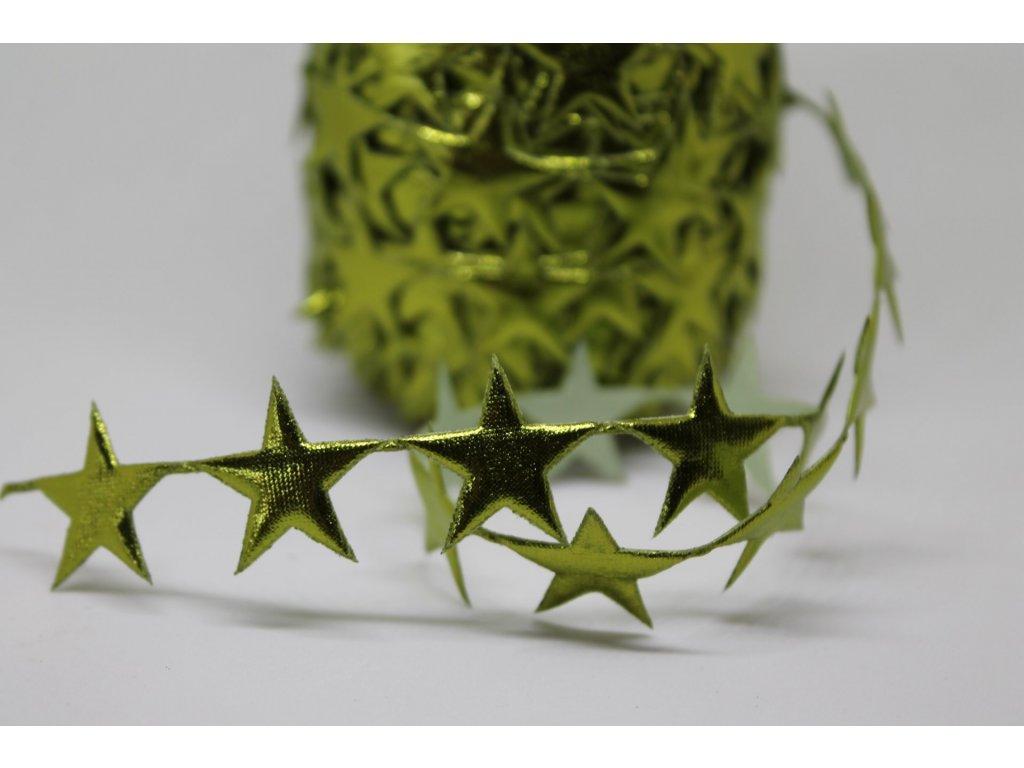 Aplikácia hviezda plná 2cm zelená