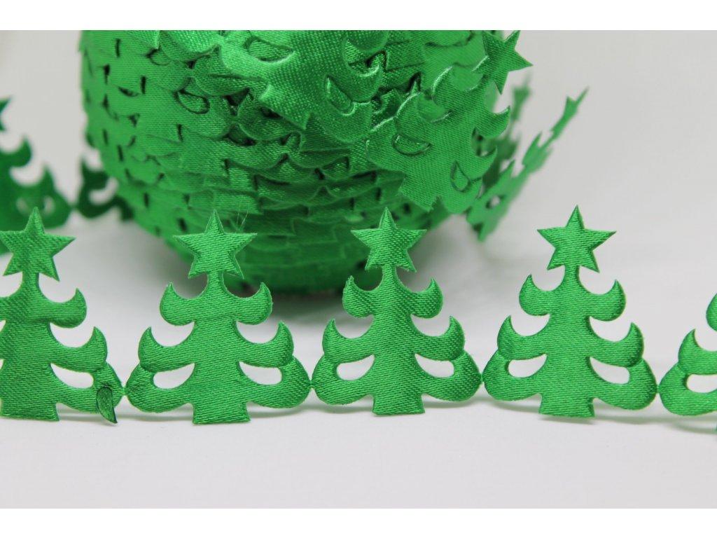 Aplikácia stromček 2x3cm zelený