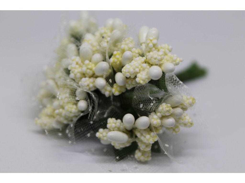 Tyčinky do kvetín s tylom 010