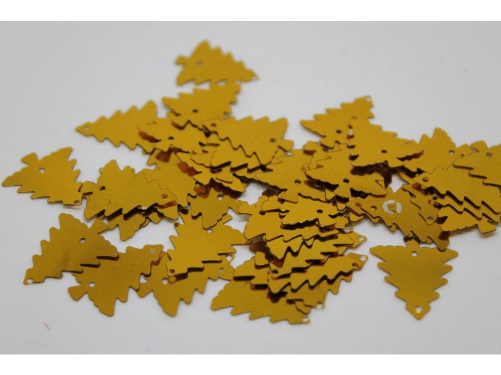 Flitre stromčeky zlaté 13mm/5g