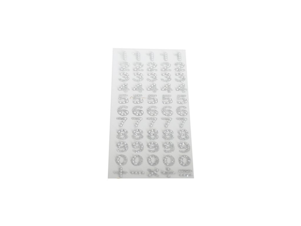 dzety samoprzylepne cyfry srebrne 1 9 1kpl