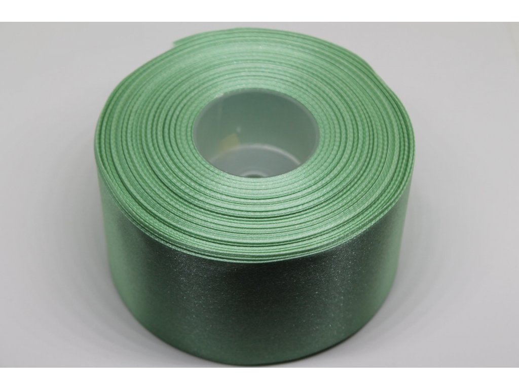 Saténová stuha 50mm A080 zeleno sivá