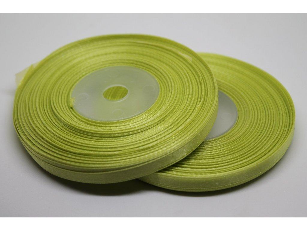 Saténová stuha 6mm A024 jarná zelená