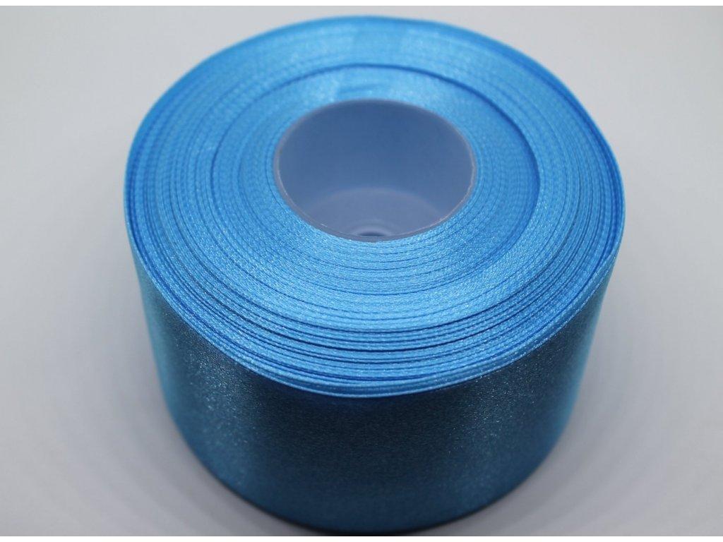Saténová stuha 50mm A069 žiarivá modrá