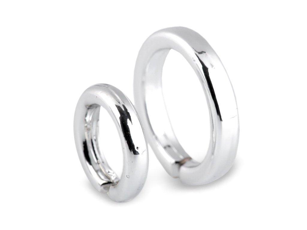 Dekorácia prstene strieborné