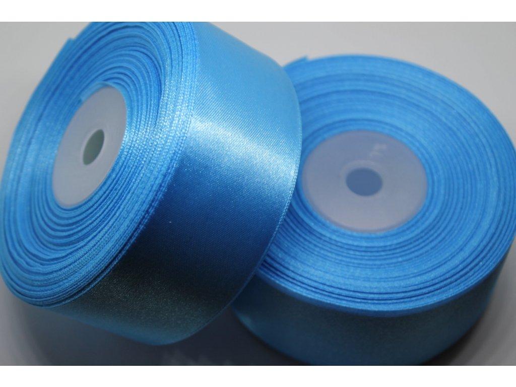 Saténová stuha 38mm A069 žiarivá modrá