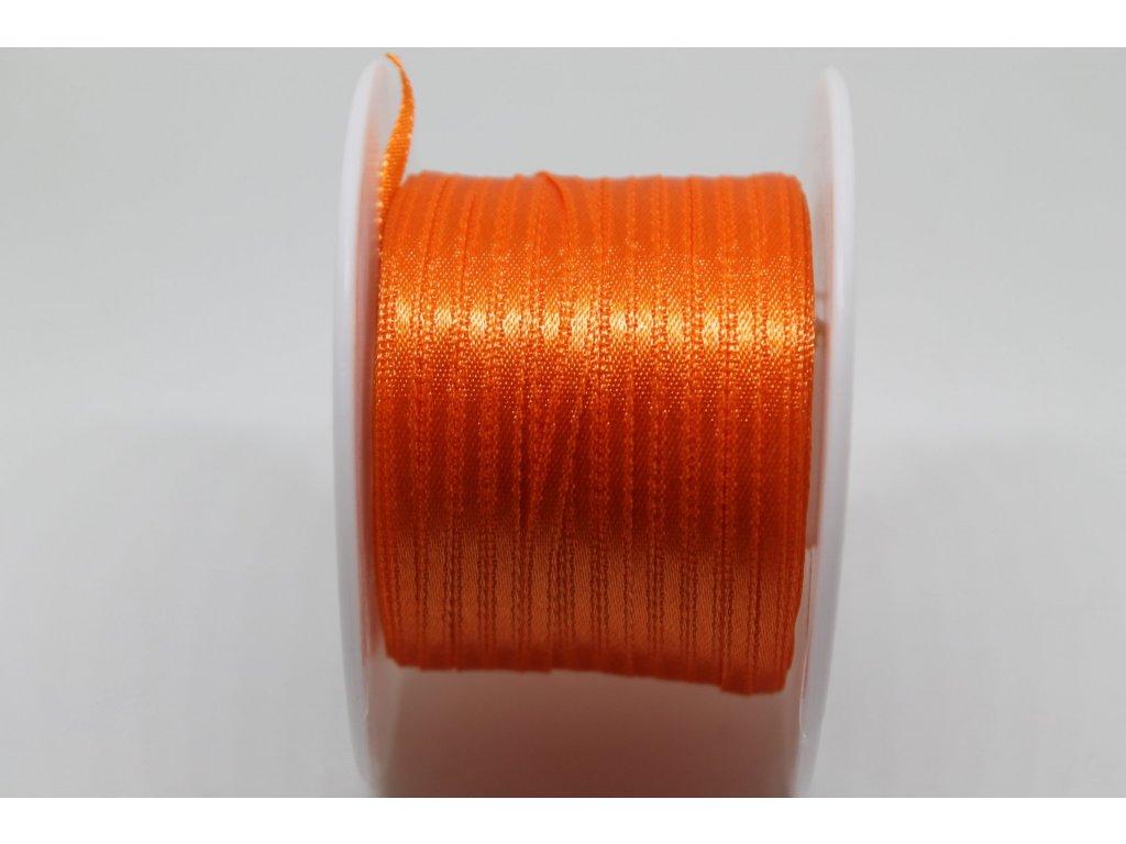 Saténová stuha 3,5mm A012 pomarančová