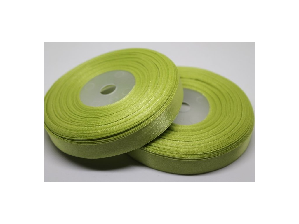 Saténová stuha 12mm A024 hrášková zelená
