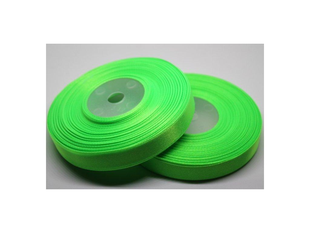 Saténová stuha 12mm A052 neónová zelená