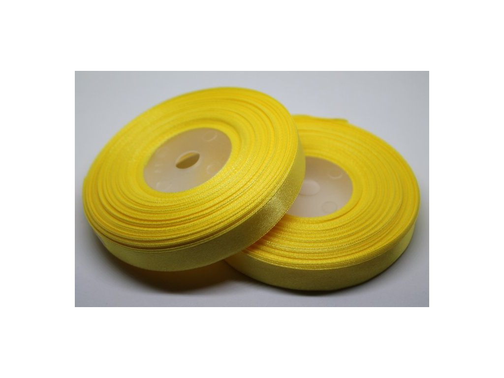 Saténová stuha 12mm A008 žltá