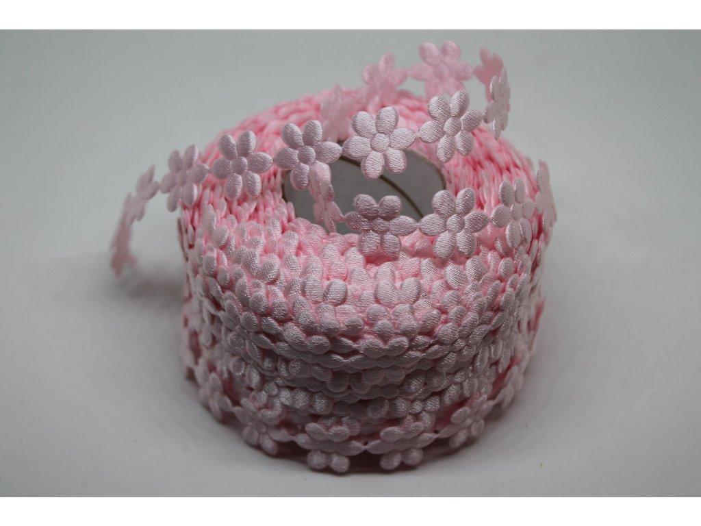 Kvietok saténový ružový 15mm