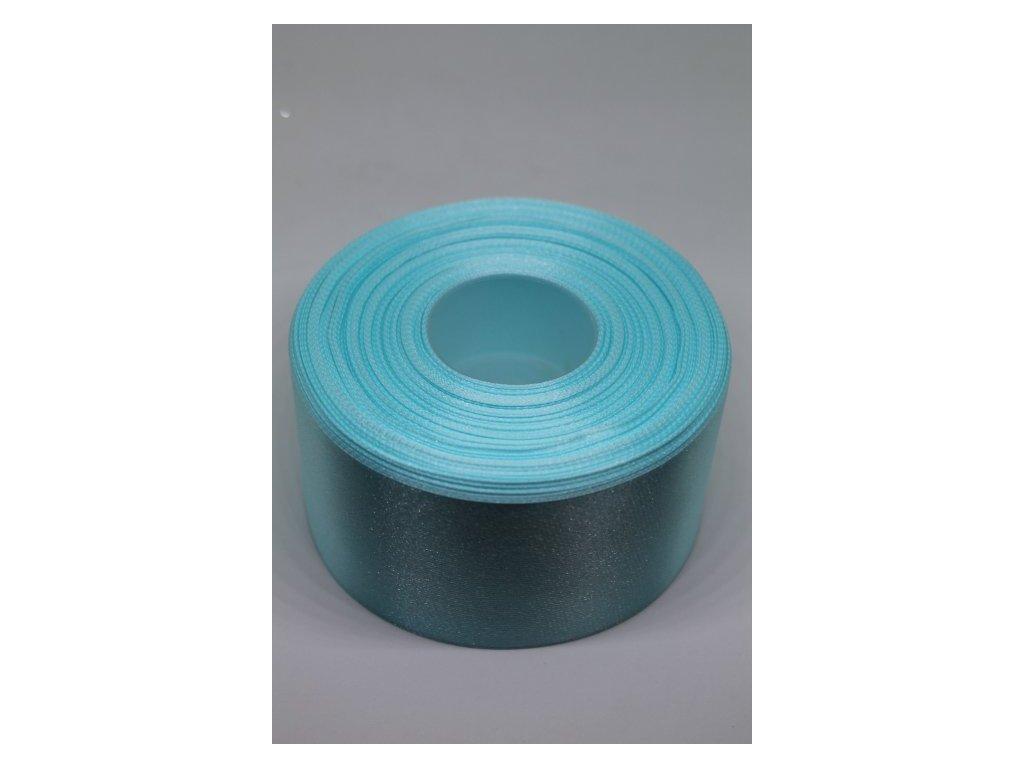 Saténová stuha 50mm A086 modrá aqua