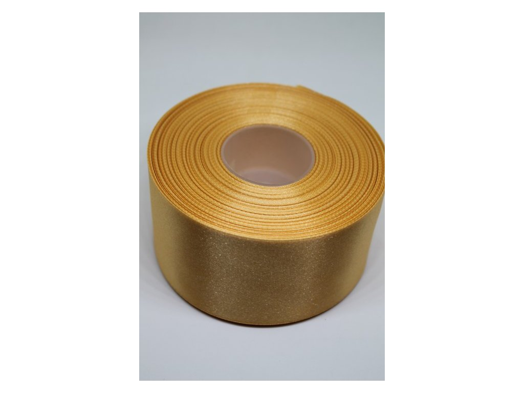 Saténová stuha 50mm A053 zlatá